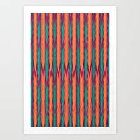 knitting Art Prints featuring Knitting Flames by VessDSign