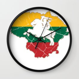 Lithuania Vilnius Lithuanian gift Baltic States Wall Clock