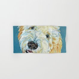 Stanley the Goldendoodle Dog Portrait Hand & Bath Towel