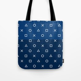 Playstation Controller Pattern - Navy Blue Tote Bag