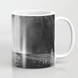 Waterfall Paradise (Black and White) Coffee Mug