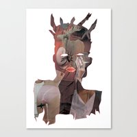 basquiat Canvas Prints featuring Basquiat by Stas Kravets (tomorrowfriday)