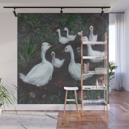 Geese of Barcelona Cathedral Wall Mural