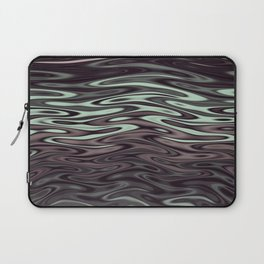 Ripples Fractal in Mint Hot Chocolate Laptop Sleeve