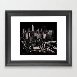 New York Black and White Framed Art Print