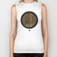 skyrim Biker Tanks featuring Shield's of Skyrim - Whiterun by VineDesign