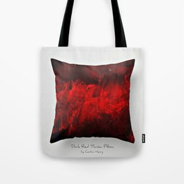 Dark Red Throw Pillow Art Print 3.0 #postmodernism #society6 #art Tote Bag