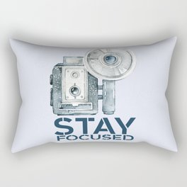 Stay Focused in Watercolor and Typography Rectangular Pillow