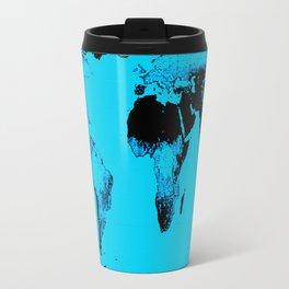 World Map : Gall Peters Blue Travel Mug