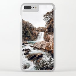 Waterfall XVII / Taupo, New Zealand Clear iPhone Case