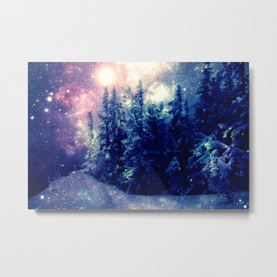 Galaxy Forest : Deep Pastels Metal Print
