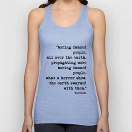 Charles Bukowski Typewriter Quote People Unisex Tank Top