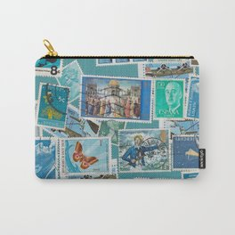 Postage Bleu Carry-All Pouch