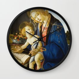 Botticelli  -  The Virgin And Child The Madonna Of The Book Wall Clock