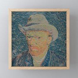Van Gogh's self portrait - Der Roj study Framed Mini Art Print