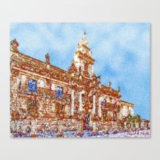 Beautiful buildings with history Canvas Print