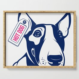 Bull Terrier Hot Dog edition Serving Tray