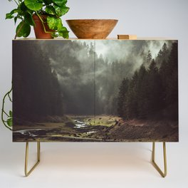 Foggy Forest Creek Credenza