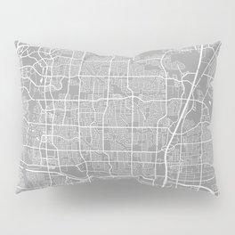 Plano map grey Pillow Sham