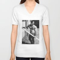 bruno mars V-neck T-shirts featuring Bruno by vooduude