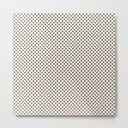 Otter Polka Dots Metal Print