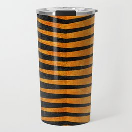Yellow / Black - Geometric Travel Mug