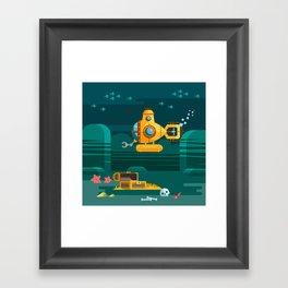 Somewhere under the sea Framed Art Print