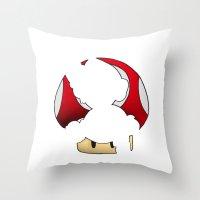 super mario Throw Pillows featuring Super Mario by SEANLAR94