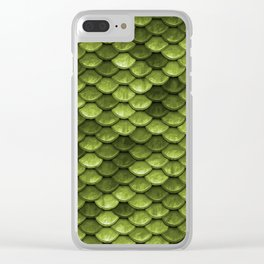 Mermaid Scales | Green with Envy Clear iPhone Case
