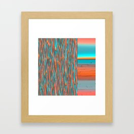 Interplay Of Warm And Cool Framed Art Print