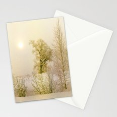 Golden Winter Forest Stationery Cards