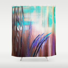 Into the Colorful Midst Shower Curtain