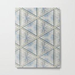 Powder Blue Equilaterals Metal Print