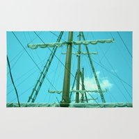 sailboat Area & Throw Rugs featuring sailboat by Vickn