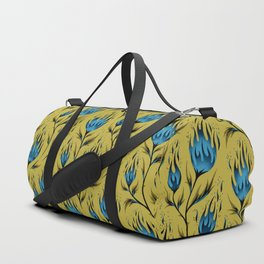 Fire Flower - Gold Blue Duffle Bag