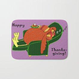 Sleeping Turkey with Pumpkin Pie Bath Mat