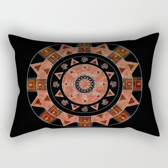 ethnic circle Rectangular Pillow
