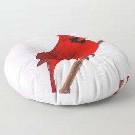 Cardinal Floor Pillow