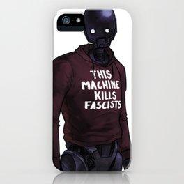 K2 - This Machine Kills Fascists iPhone Case