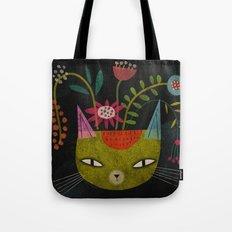 FLOWER FELINE Tote Bag