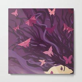 Butterflies in my hair Metal Print