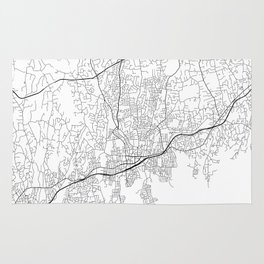 Minimal City Maps - Map Of Stamford, Connecticut, United States Rug