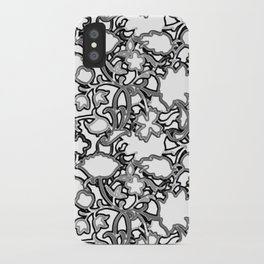 Lila's Flowers Repeat Black and White iPhone Case