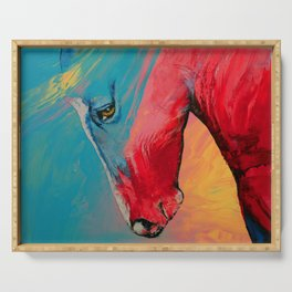 Painted Horse Serving Tray