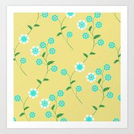 Knapweed, centaury, centory flowers Art Print