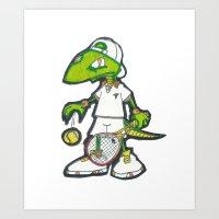 Tennis Raptorz Art Print