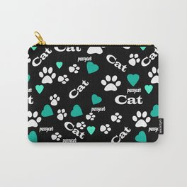 Kitten tracks Carry-All Pouch