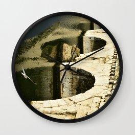 Roman Bridge Rimini, Italy Wall Clock