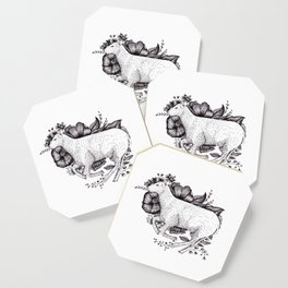 Sheep - Go Vegan Coaster