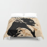 lotr Duvet Covers featuring Elven king by Panda Cool